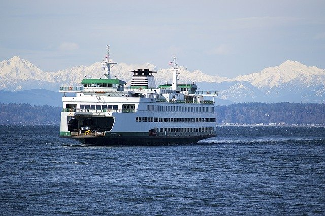 ferry outside Tacoma, Washington